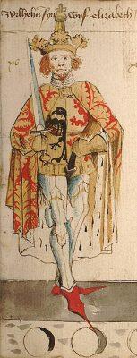 Graaf Willem II van Holland, - geschilderd door Hendrik van Heessel