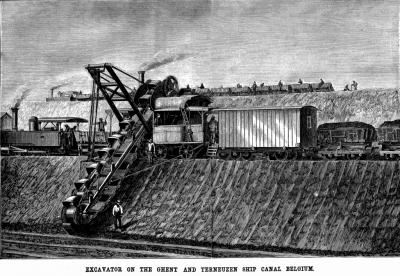 Graafwerkzaamheden in 1824