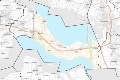Grenzen van de gemeente Reimerswaal