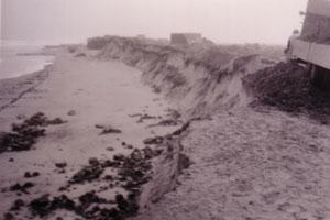 Beschadigingen aan de Groedse duinen