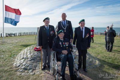 Herdenking bombardement met veteranen - Foto J. de Jonge