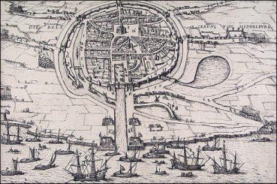 Het beleg van Middelburg naar Frans Hogenber