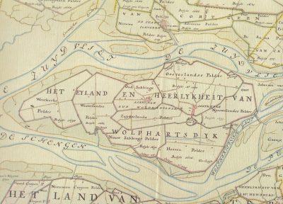 Het eiland Wolphaarstdijk in de 16de eeuw