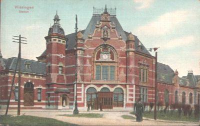 Het herbouwde sation van Vlissingen in 1910
