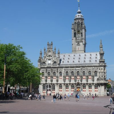 Het historische stadhuis van Middelburg