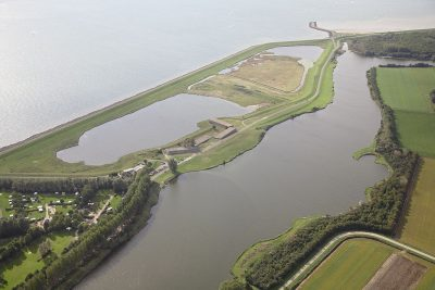 Het krekengebied achter het watersnoodmuseum
