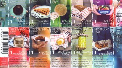 Het nieuwe postzegelvel - foto PostNL
