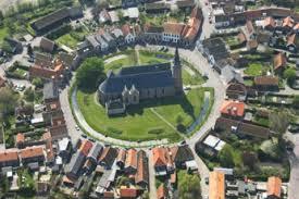 Het ringdorp Dreischor vanuit de lucht