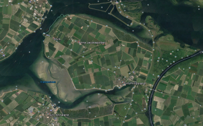 Het schiereiland Sint-Philipsland - afb. Google Earth
