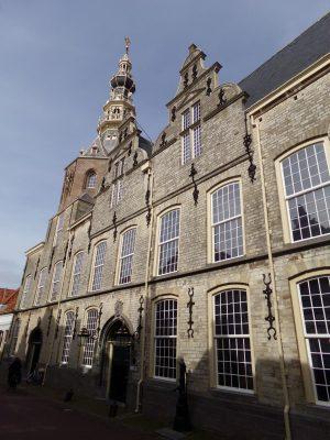 Het statige oude stadhuis van Zierikzee, nu stadhuismuseum