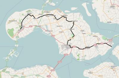 Het traject van de oude tramweg