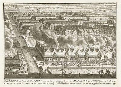Het uitmoorden van de Chinese bevolking van Batavia op 9 oktober 1740
