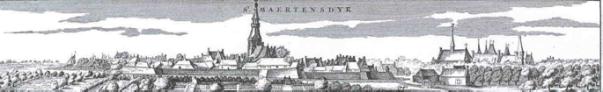 Het vroegere stadje Sint-Maartensdijk