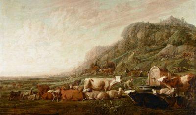 Jacob hoedt de kudde van Laban. Olieverfschilderij door François Rijckhals, 1642. (Collectie Zeeuws Museum, aangekocht met steun van Vereniging Rembrandt)