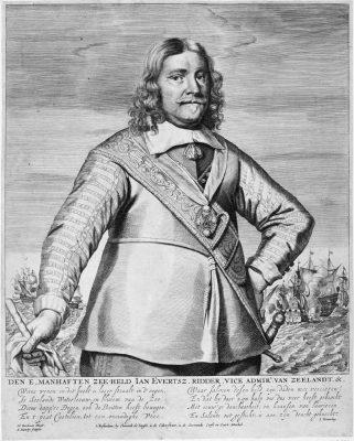 Johan Evertsen gravure van Abraham Blooteling