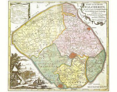 Kaart van Walcheren 1753