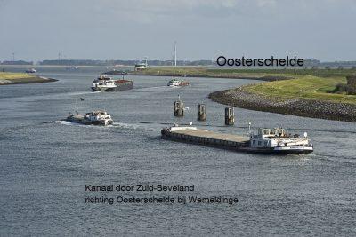 Kanaal uitgang bij Wemeldinge naar de Oosterschelde