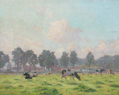 Koeien in de lente