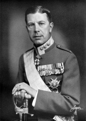 Koning Gustaaf VI Adolf van Zweden