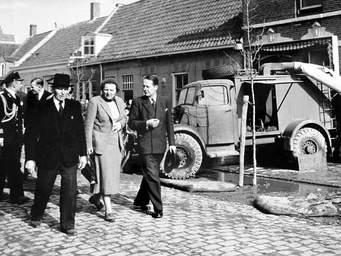 Koningin Juliana bezoek Zeeland na de Ramp