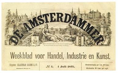 Kop van de Amsterdammer uit 1877