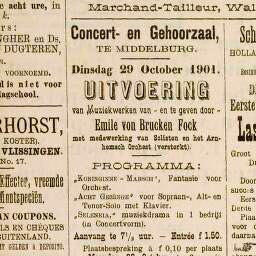 Krantenadvertentie uit 1901
