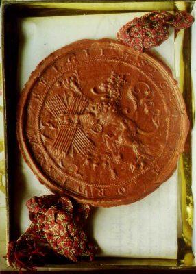 Lakzegel van de Staten Generaal uit 1578