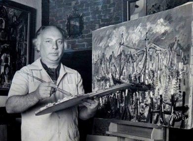 Makkes in zijn atelier