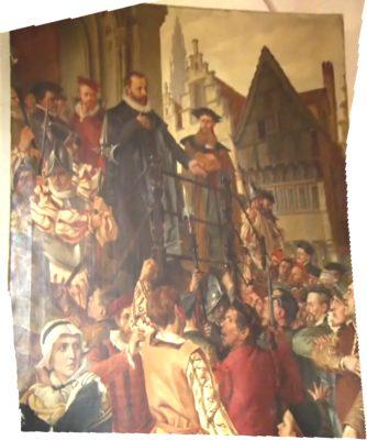 Marnix geportreteerd in zijn kasteel