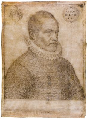 Marnix van Aldegonde naar een portret van Johannes Wierix