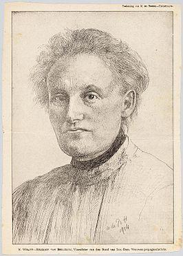 Mathilde portret van Marie Heijemans
