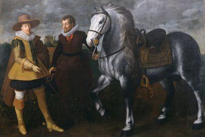 Maurits met een van zijn paarden (Adriaen van Nieulandt de jongere, 1624)