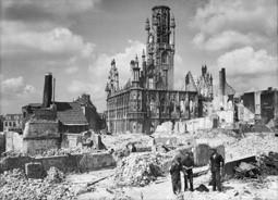 Middelburg na de verwoesting in 1940