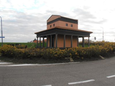 Reconstructie van de tempel gewijd aan Nehalennia in Colijnsplaat