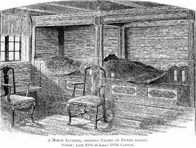 Noors interieur met in Nederland gemaakte stoelen - 1846