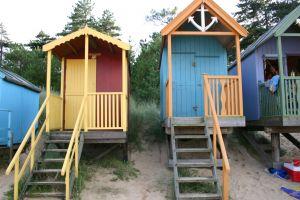 Of een gezellige strand cabine