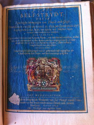 Omslag van het boek Self stryt uit 1625