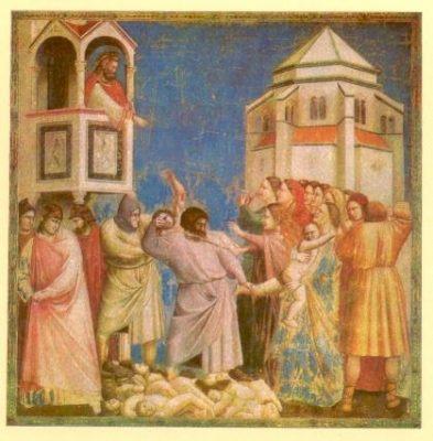 Onnozele kinderen - Fresco door Giotto