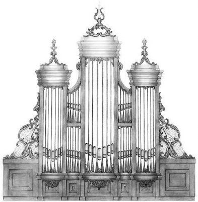 Ontwerptekening van het Kruse orgel door Soeters