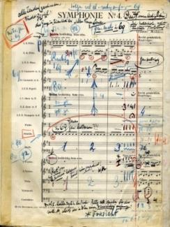 Originele bladmuziek van zijn 4de symphonie