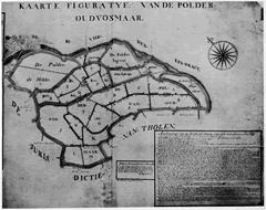 Kaart van de polders van Oud- Vossemeer van K. Bestebroer– omstreeks 1761