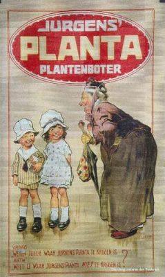 Oude poster voor Planta margarine