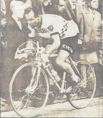 Piet Rentmeester in actie tijdens profloopbaan, bron Krantenbank Zeeland, PZC, 10 mei 1980