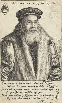 Pieter van Foreest, portret uit 1586