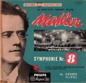 Platenhoes van de beroemde uitvoering van Mahler