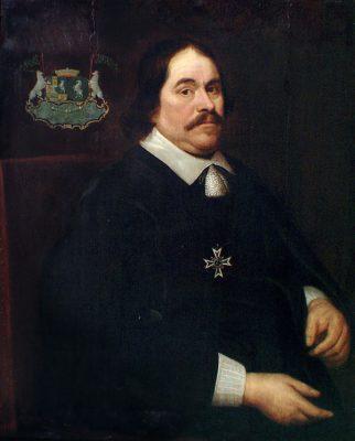 Portret van Cornelis Lampsins, baron van Tobago, circa 1655 door anonieme schilder, foto & collectie Zeeuws Maritiem muZEEum