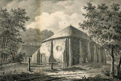 Prent van het vroegere klooster