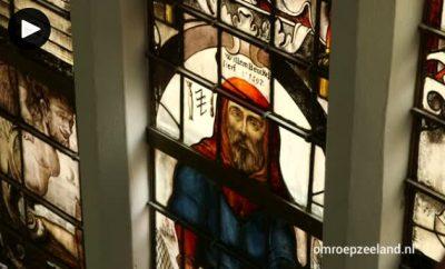 Raam in de hervormde kerk van Biervliet