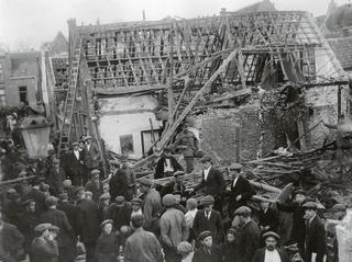 Ravage in de molenstraat - Foto Gemeentearchief Schouwen-Duiveland