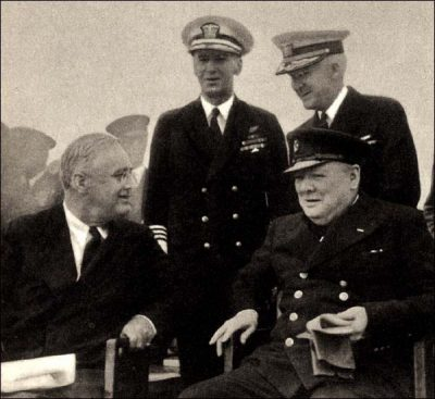 Roosevelt ontmoet Churchill in 1941